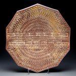 Rick McKinney - Stoneware stamped platter
