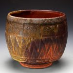 Rick McKinney - woodfired big cup - stamped - 2008a