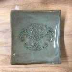 Small plate with Celtic tree stamp.